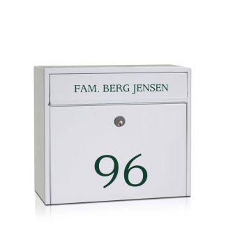 Navneskilt til postkasse - BASIS