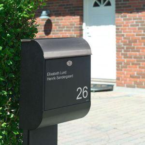 Navneskilte til postkasse