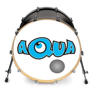 Custom frontskind med folielogo - Aqua